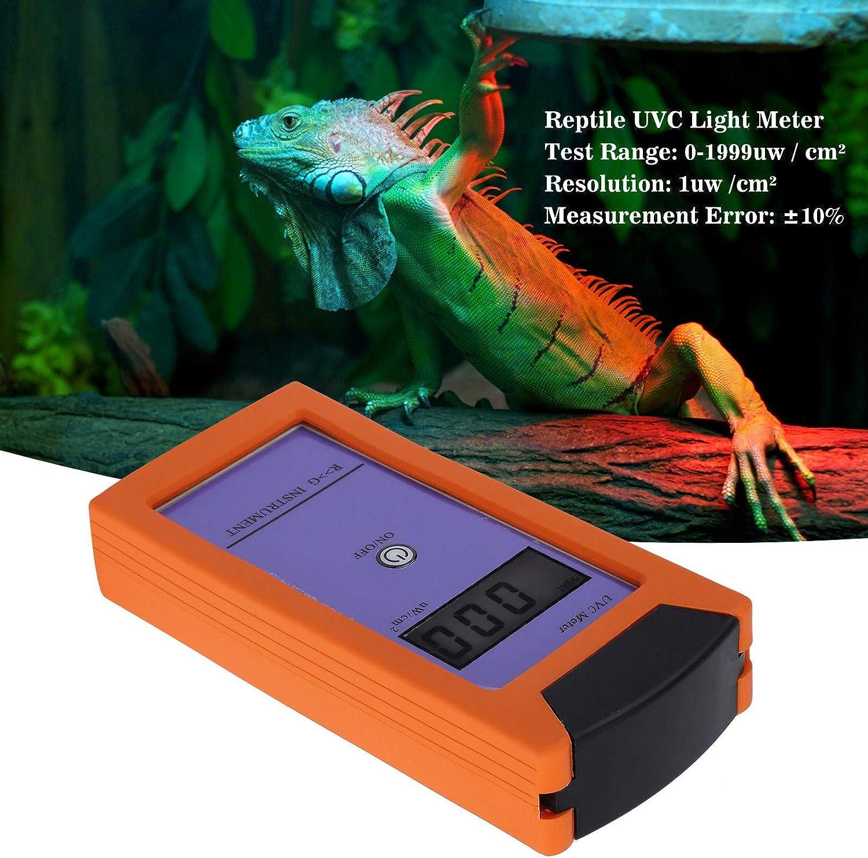l/ámparas de Reptiles Reptiles Medidor de radiaci/ón UV Lux/ómetro UV Medidor de luz UVC
