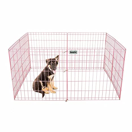 DazzPet Dog Pen Puppy Playpen | 24u0026quot; Height Indoor Outdoor Exercise  Outside Play Yard |