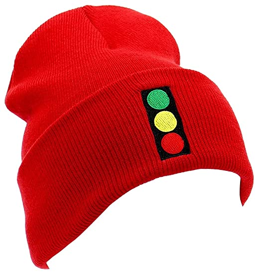 e23682b7a7b Image Unavailable. Image not available for. Color  Zissou Stoplight Beanie  - Warm 12 quot  Acrylic Knit Beanie Cap - Halloween