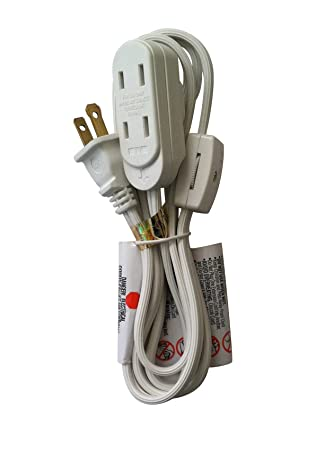 6 feet 16 2 household extension cord with thumb wheel on off switch rh amazon com wiring. switch into an extension cord Extension Cord Diagram