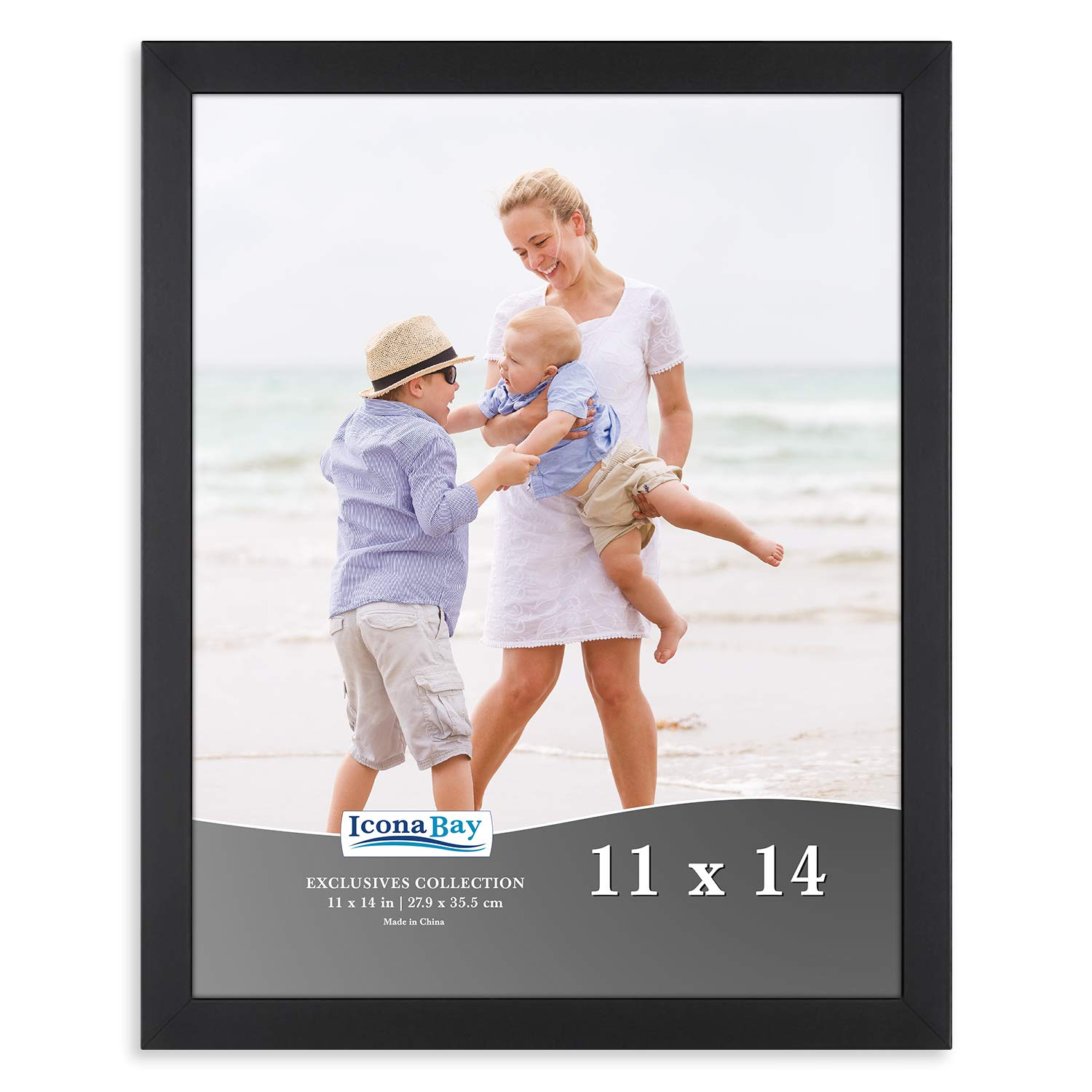 Icona Bay 11x14 Picture Frame (Black) 11 x 14 Photo Frame, Picture Frame 11x14, Exclusives Collection
