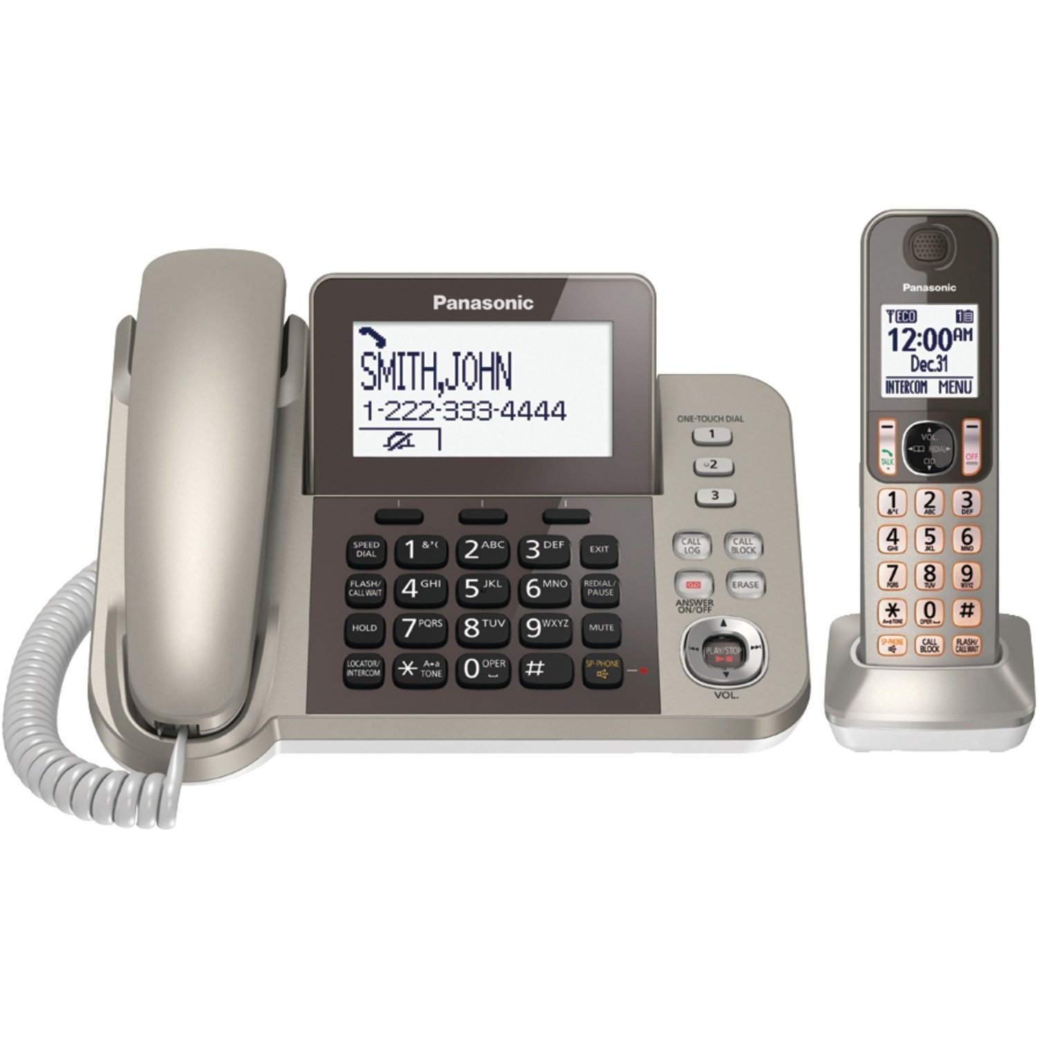 Panasonic KXTGF350N Dect 1-Handset Landline Telephone (Renewed)