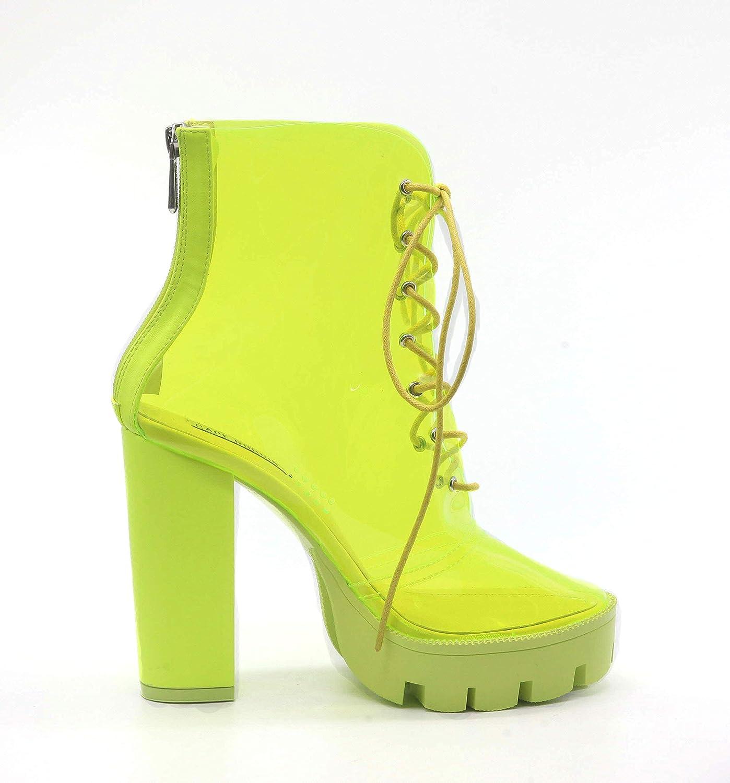 e7982f5bf07 Amazon.com | CAPE ROBBIN Cybil Womens Transparent Chunky High Heels ...
