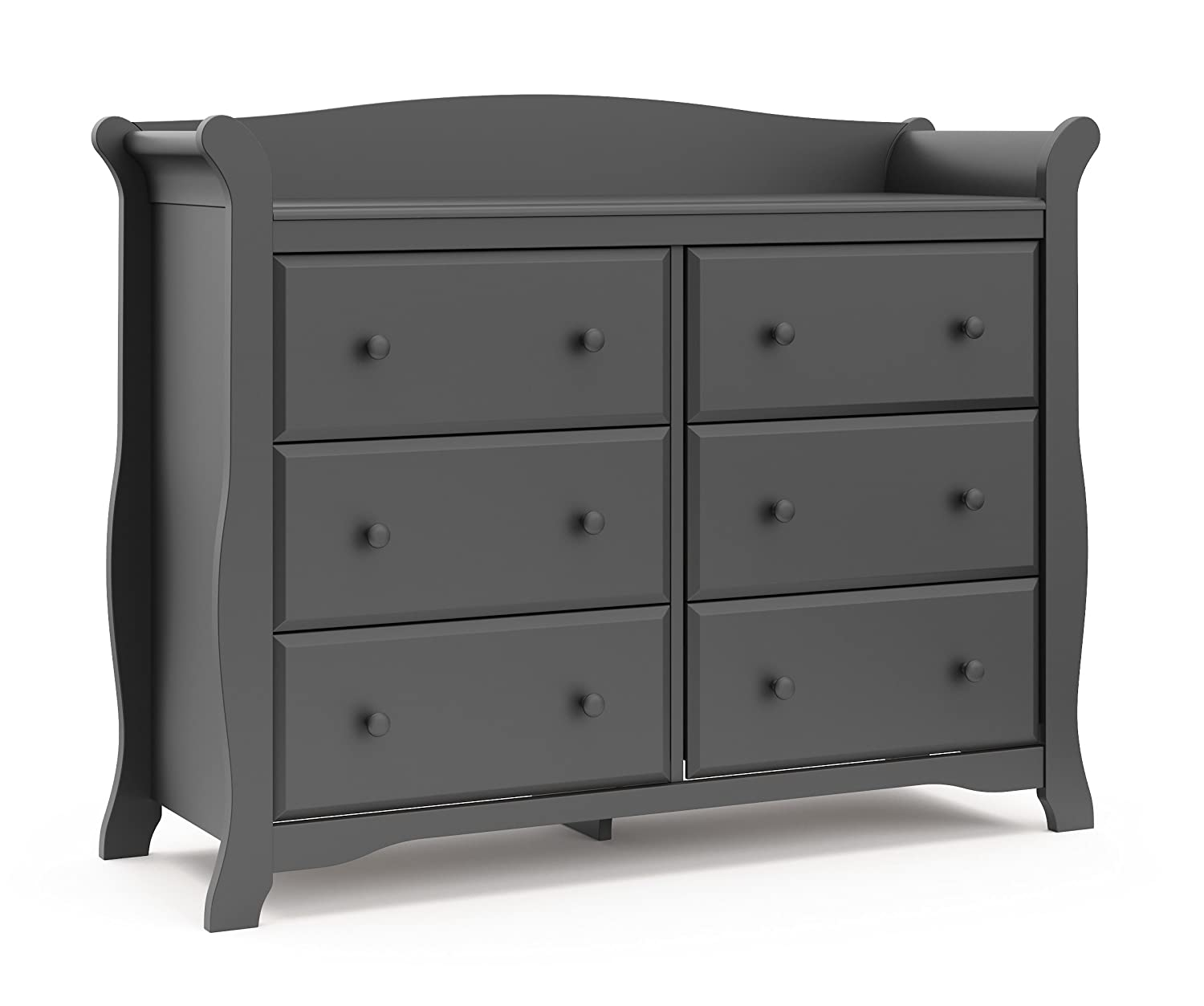 Storkcraft Avalon 6 Drawer Universal Dresser, Gray