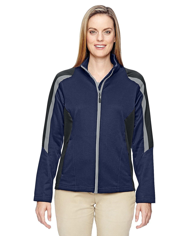 North End Womens Strike Colour-Block Fleece Jackets (78201) -CLASSIC NAVY -XL