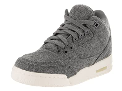 quality design 7f090 5fb70 Nike Jordan Kids Air Jordan 3 Retro Wool Bg Dark Grey Dark Grey Sail  Basketball Shoe 7 Kids US  Amazon.com.mx  Ropa, Zapatos y Accesorios