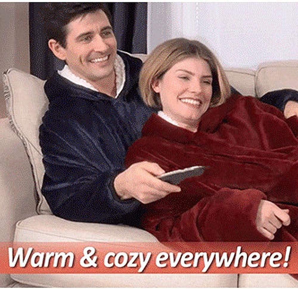 BFZHYMX Original Decke Vlies Kapuzenpullover Sweatshirt für Frauen Übergröße Kapuzenpulli Sweatshirt Mäntel Bequemer Pullover Weihnachten,Rosa Pink