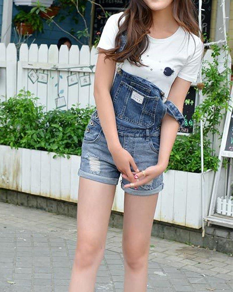 Mujer Cintura Alta Pantalones Cortos Shorts De Mezclilla Casual Jeans: Amazon.es: Ropa y accesorios
