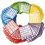 Yuanhe Bingo Paper Game Cards 100 Bingo Cards in Mixed Colors