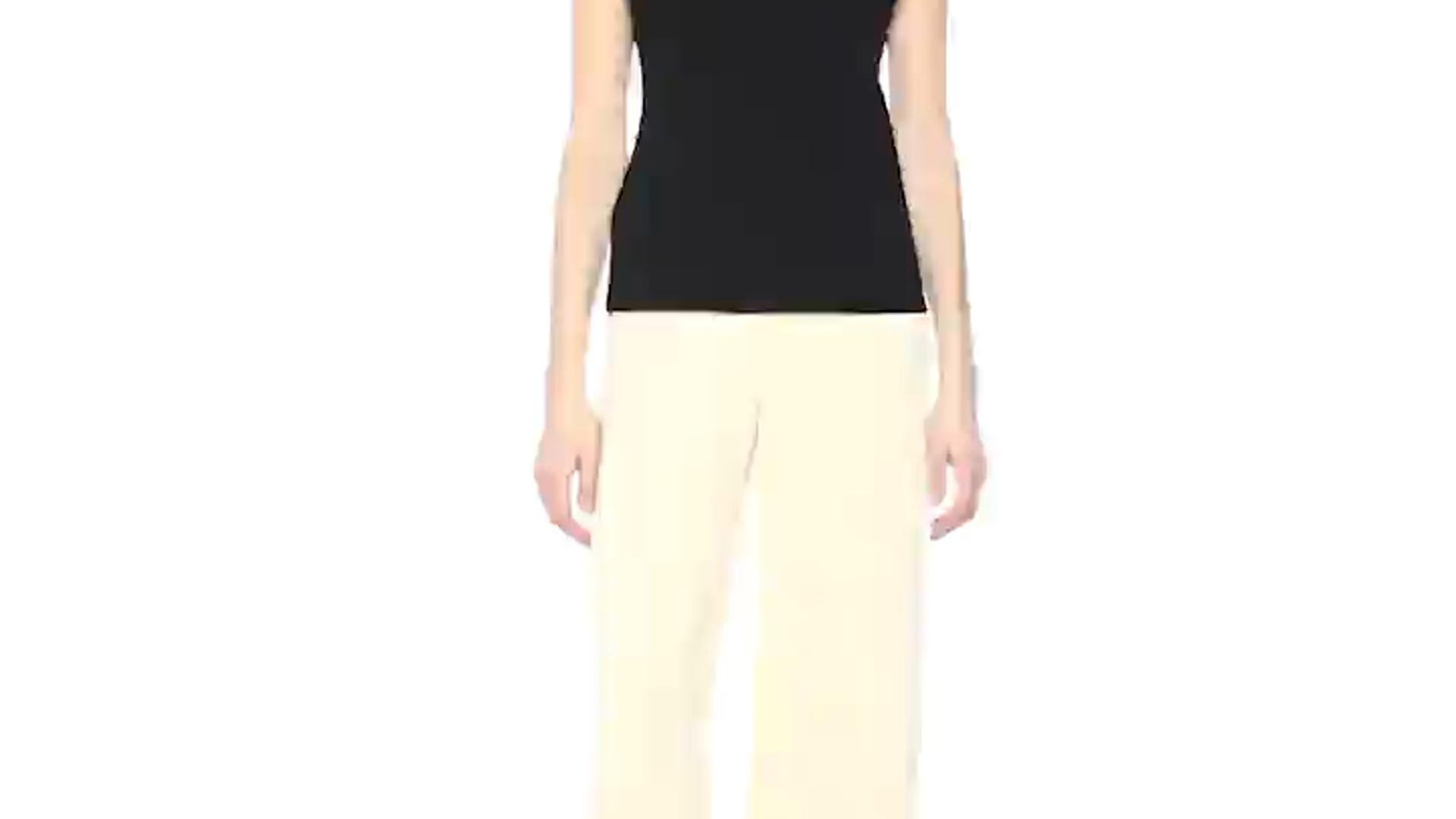 8eb783c71a1512 Amazon.com  Theory Women s Sleeveless Draped Boatneck Top  Clothing