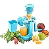 Amiraj Plastic Manual Juicer Set, 2-Pieces, Blue