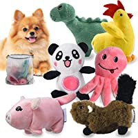 LEGEND SANDY Squeaky Plush Dog Toy Pack for Puppy, Small Stuffed Puppy Chew Toys 6 Dog Toys Bulk with Squeakers, Cute…