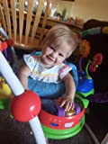 Bright, colorful, music... baby loves it!