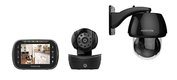 Amazon.com: Motorola Pet Scout2360 Indoor/Outdoor Remote Wireless Pet Monitor with 3.5-Inch Color LCD Screen, Remote Camera Pan, Tilt and Zoom: Pet Supplies