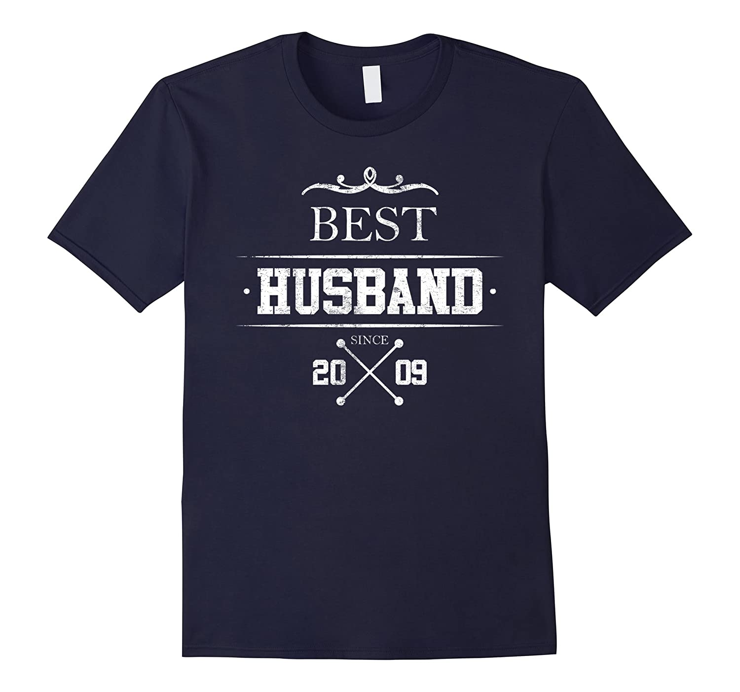 Mens Best Husband Since 2009, Anniversary Gift 8 Years Wedding-Art