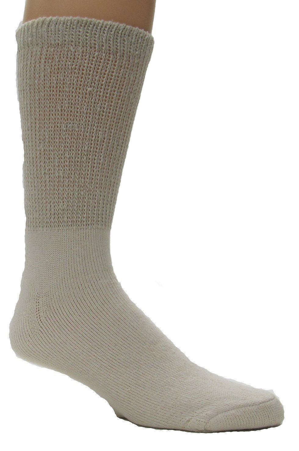 Diabetic Socks, Ultra Light, 12pair, Color Natural - Size 10-13