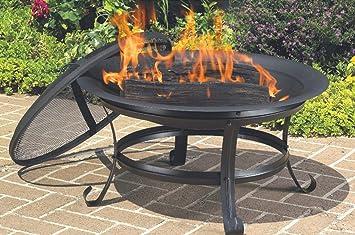 Feuerstelle Garten Rund : Fb funkybuys rund cm outdoor schwarz feuerstelle garten