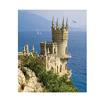 5d con incrustaciones diamantes pintura, awakingdemi bordado playa castillo Kit de DIY Pintura de diamante decorativo bordado para decoración del hogar: ...