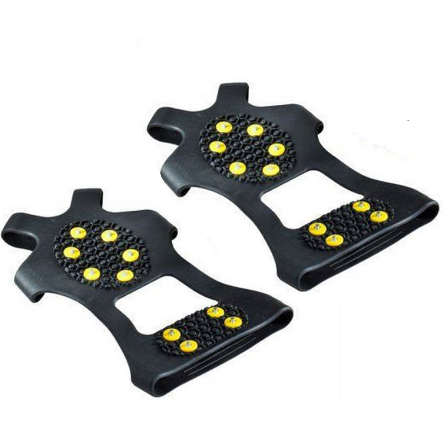 10-Stud Universal Ice Snow Cleat Grips Traction Nonskid Over Shoe Boot Footwear Crampons Studs Spikes Beetest