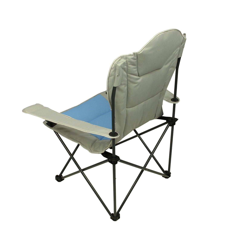 Fridani FSB 108 XXL Sedia da campeggio imbottita resistente Sedia pieghevole con portabibite pieghevole da giardino Sedia con braccioli oda sedia da