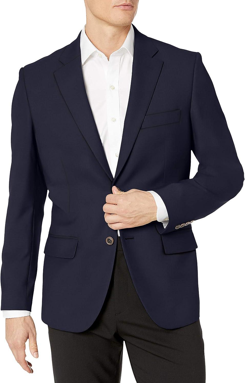 Essentials Mens Standard Classic-fit Stretch Blazer