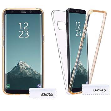 Lincivius Funda para Samsung Galaxy S8, Carcasa TPU Full Cover 360 Compatible con Samsung Galaxy S8, Grados Antigolpes Integral Silicona e acrílico ...