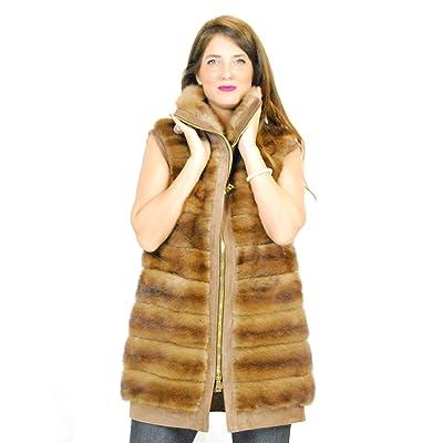 44 Dotted horizontal mink fur with high neck and reindeer pelliccia visone  pelz nerz нор b11c6d9a3ec0