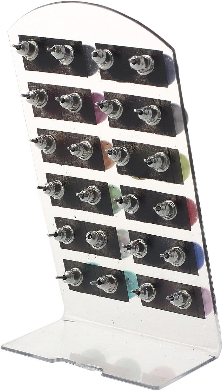 Femme MunkiMix 4~10mm 24 Pi/èce Acier Inoxydable R/ésine Clou d`oreille Boucle dOreille Ton dArgent Noir Rouge Rose Vert Brun Jaune Blanc Multicolor/é Color/é S/érie 12 Pair Paire