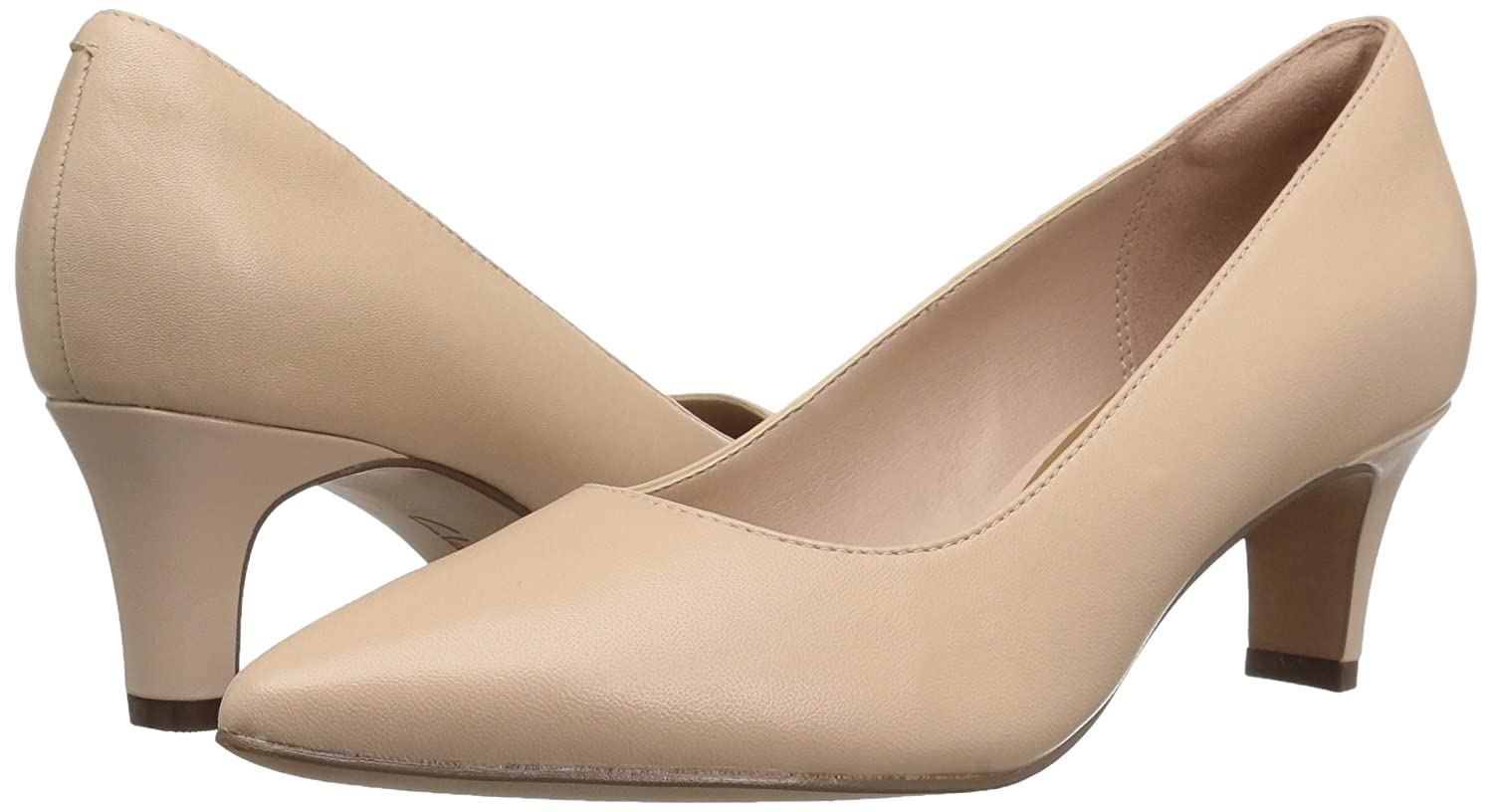 CLARKS Women's Crewso Wick Dress Pump B01IAV43R6 12 M US|Nude Pink Leather