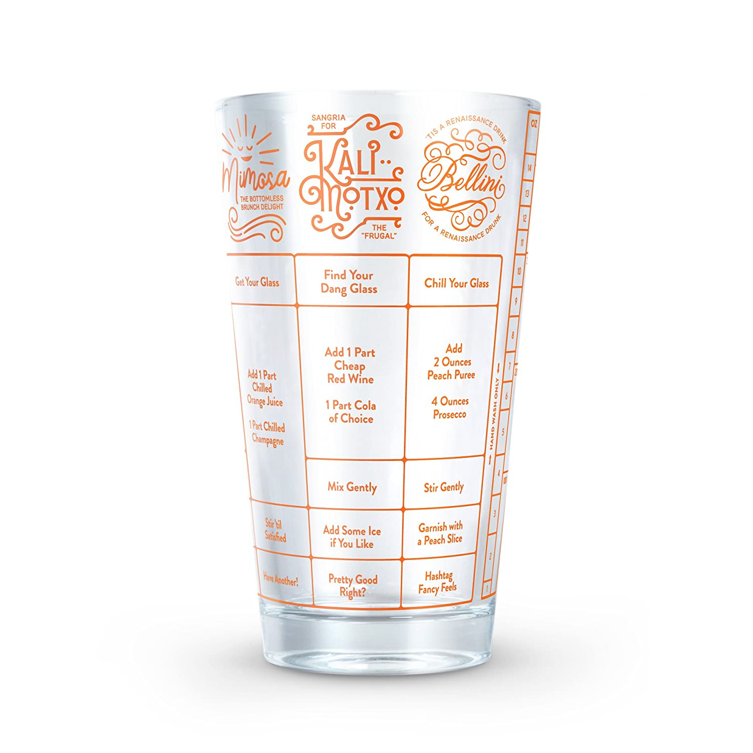 Fred GOOD MEASURE Cocktail Recipe Glass, Beer - 5188412