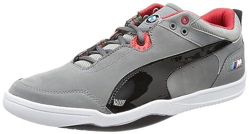Puma Preciso Low BMW - Zapatillas de cuero hombre, color gris, talla 46: Amazon.es: Zapatos y complementos