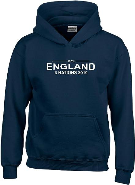 100/% England Six Nations 2018 Kids Rugby Hoodie