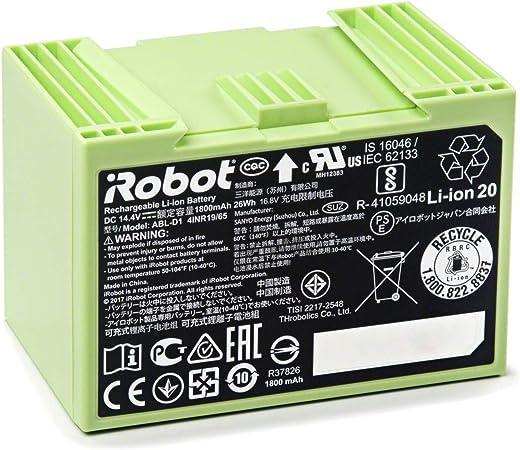 iRobot 4624864 Batería de ion de litio 1800mAh para Roomba Serie e5, i7, i7+, 26W: Amazon.es: Hogar