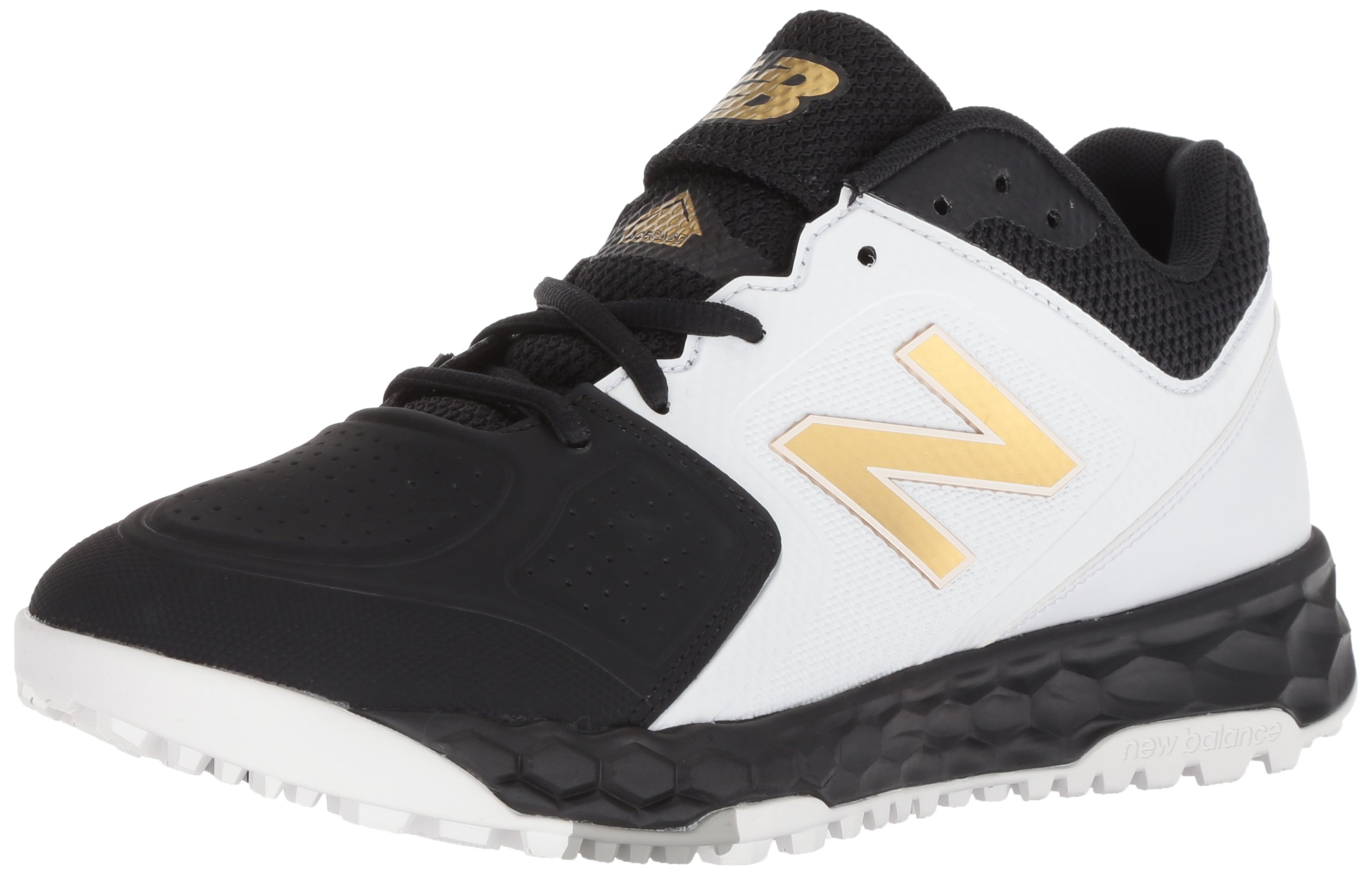 New Balance Women's Velo V1 Turf Softball Shoe, Black/White, 8.5 D US by New Balance