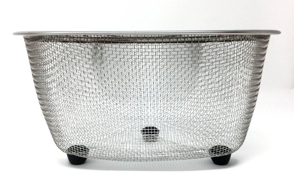 Mesh Stainless Steel Corner Kitchen Sink Strainer 7'' x 5'' Silver