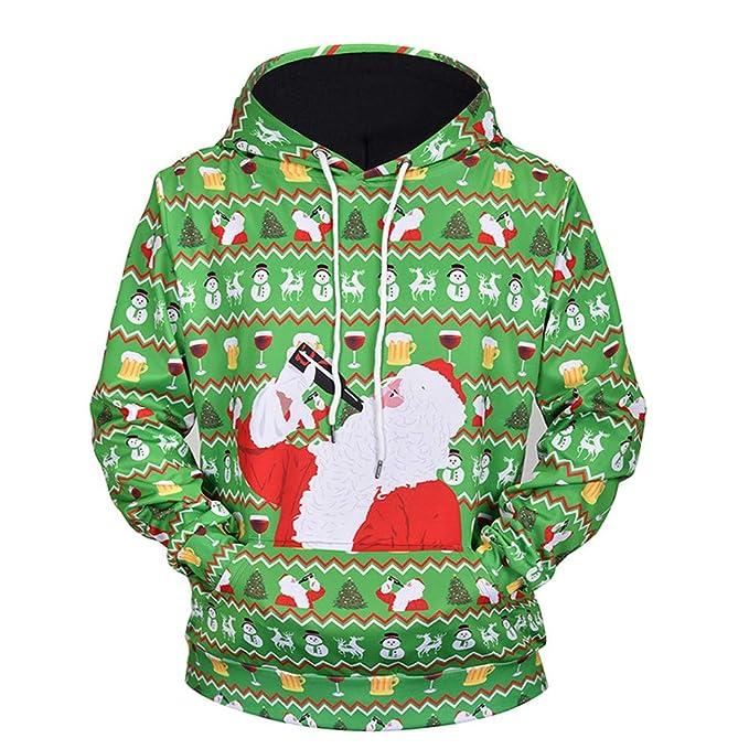 VENMO Herren Winter Warme Weihnachten Hoodie Pullover
