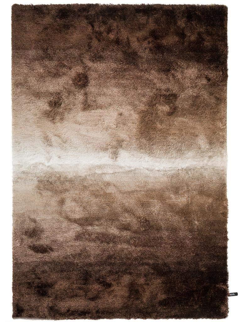 Benuta Shaggy Hochflor Teppich Whisper Braun Taupe 80x150 cm   Langflor Teppich für Schlafzimmer und Wohnzimmer
