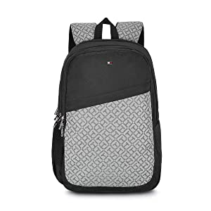 Tommy Hilfiger 19.53 Ltrs Black Laptop Backpack (TH/BIKOL01VIS)
