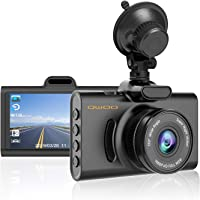 """QWOO Dash Cam,1080P FHD 3.0"""" LCD Driving Recorder WDR Dashboard for Cars with 170 Wide Angle Loop Recording Parking Monitor G-Sensor Night Vision,Compatible with Taxi Novice Drivers"""
