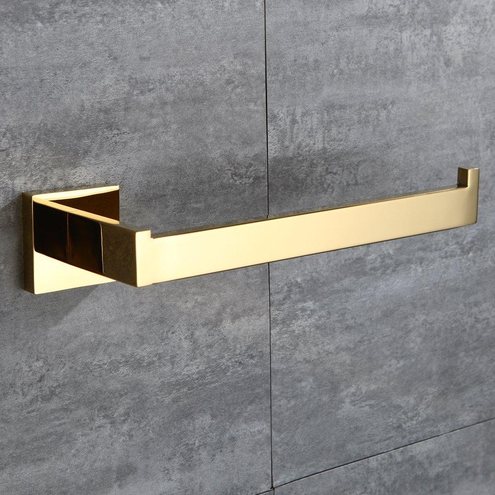 Bathroom 4 Sets CASEWIND Estilo de Lujo para ba/ño de 60 cm de Largo Dorado Acero Inoxidable Toallero de Barra de toallero con Barra de Acero Inoxidable