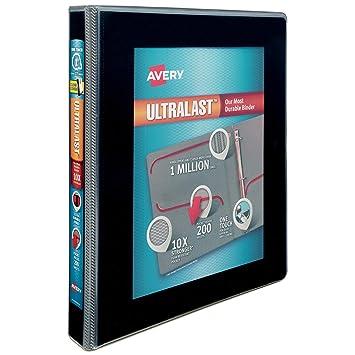 "Avery Ultralast cartón con 1 ""One Touch Slant Anillos, ..."