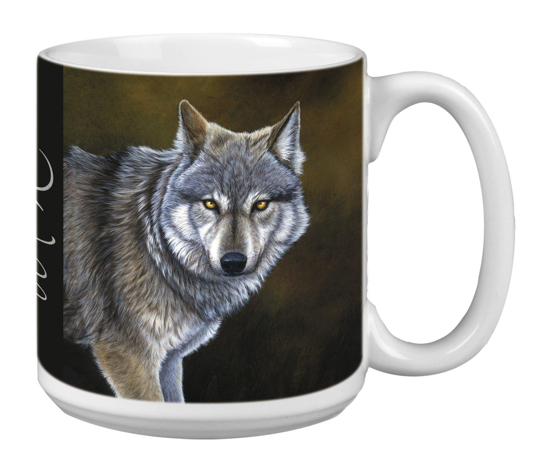 Classic Wolf Extra Large Mug, 20-Ounce Jumbo Ceramic Coffee Mug Cup, Animal Themed Wildlife Art - Gift for Wolf Lovers (XM29736) Tree-Free Greetings