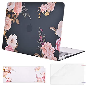 MOSISO MacBook Air 13 inch Case 2019 2018 Release A1932 with Retina Display, Plastic Pattern Hard Shell & Keyboard Cover & Screen Protector Only ...
