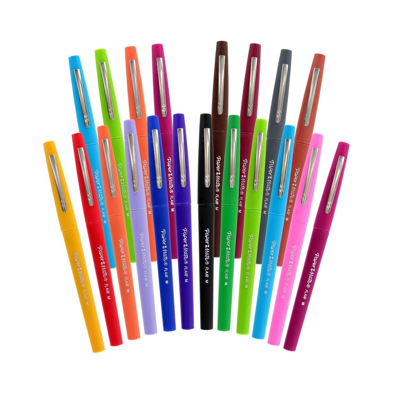 Paper Mate Flair Porous Point Pens, Medium Point, Assorted Colors
