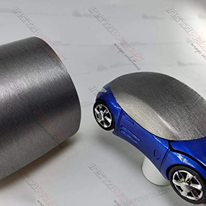VVIVID8 vinyl car wrap Brushed Aluminium 25ft x 5ft with free car-wrap kit