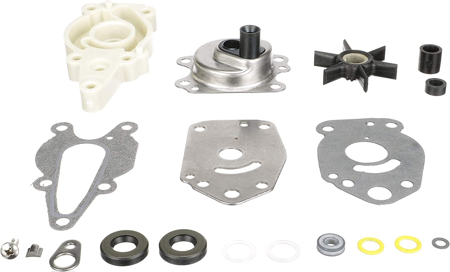 Quicksilver Water Pump Repair Kit 42089A5 - Outboards - for Mercury or Mariner 6 HP Through 15 HP, 4-Stroke Outboards