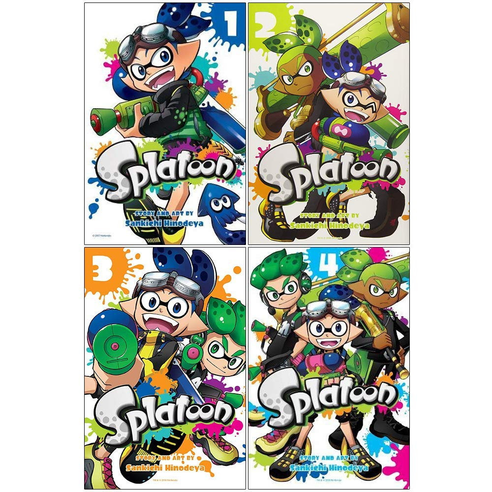 Splatoon manga vol 1-4 collection 4 books set by sankichi