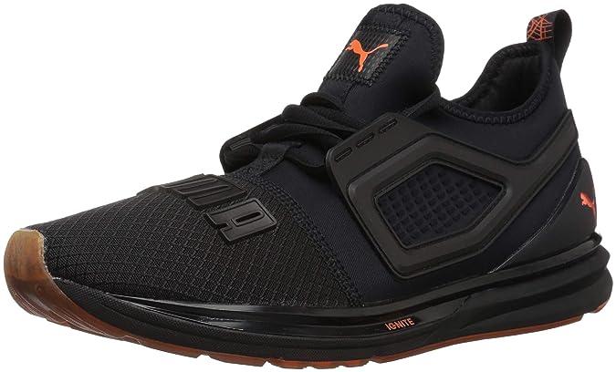 PUMA Men's Ignite Limitless Sneaker, Black Firecracker, 7 M
