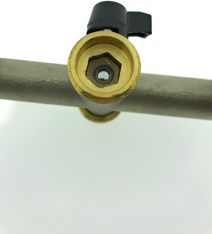 Ventilkappenk/önig 3-Wege Messing Wasserhahn Wasserverteiler 3er Verteiler 3//4