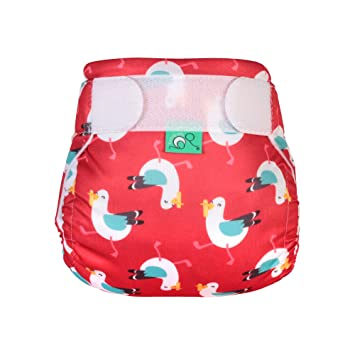 Size 1 Red with Seagulls TotsBots Reusable Swim Nappy Mine